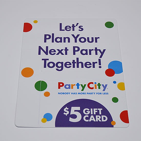 Party City Promotional Card