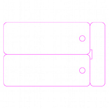 CR80 DOUBLE KEYTAG TEMPLATE