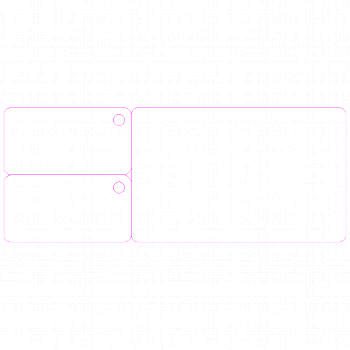 CR80 2 TAG HORIZONTAL 2.125X5.375 TEMPLATE